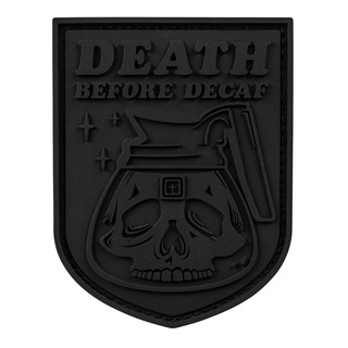5.11 Tactical Death Before Decaf Patch - Black Out Series-