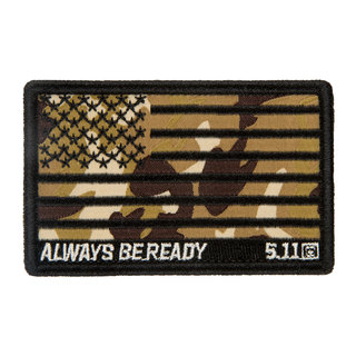 5.11 Tactical Camo American Flag Patch-5.11 Tactical