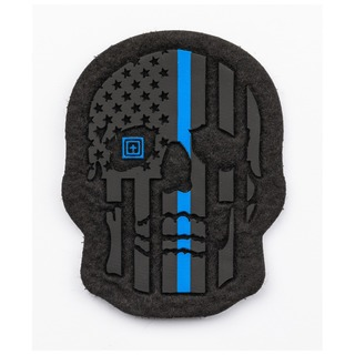 5.11 Tactical Painted Thin Blue Line Patch-5.11 Tactical