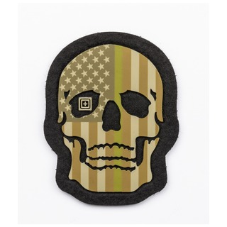 5.11 Tactical Painted Thin Green Line Skull Patch-