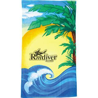 14 Lb. Beach Scene Beach Towel