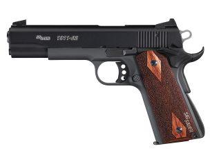 1911, .22 LR, Pistol, Full size, 5in bbl, Nitron, BLK, SAO, Contrast Sights