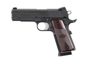 1911, .45 ACP, Pistol, Carry, 4.2in bbl, Nitron, BLK, SAO, SIGLITE, Rosewood Grip, (3) 8rd Steel Mag, Beavertail