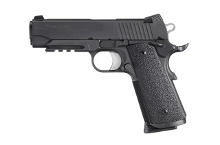 1911, .45 ACP, Pistol, Carry, 4.2in bbl, Tac Ops, BLK, SAO, SIGLITE