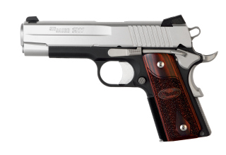 1911, .45 ACP, Pistol, Compact, 4.2in bbl, C3, 2-Tone, SAO, Contrast Sights