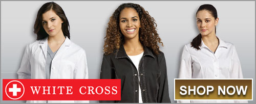 Shop White Cross Lab Coats