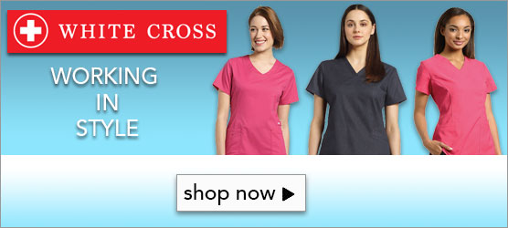 Shop White Cross Scrub Apparel