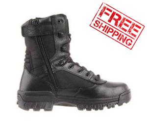 "Womens 8"" Tactical Sport Side Zip Boot-"