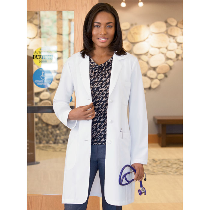 "LADIES Meta Pro 35""  Tri-Blend Stretch Labcoat 885-Meta"