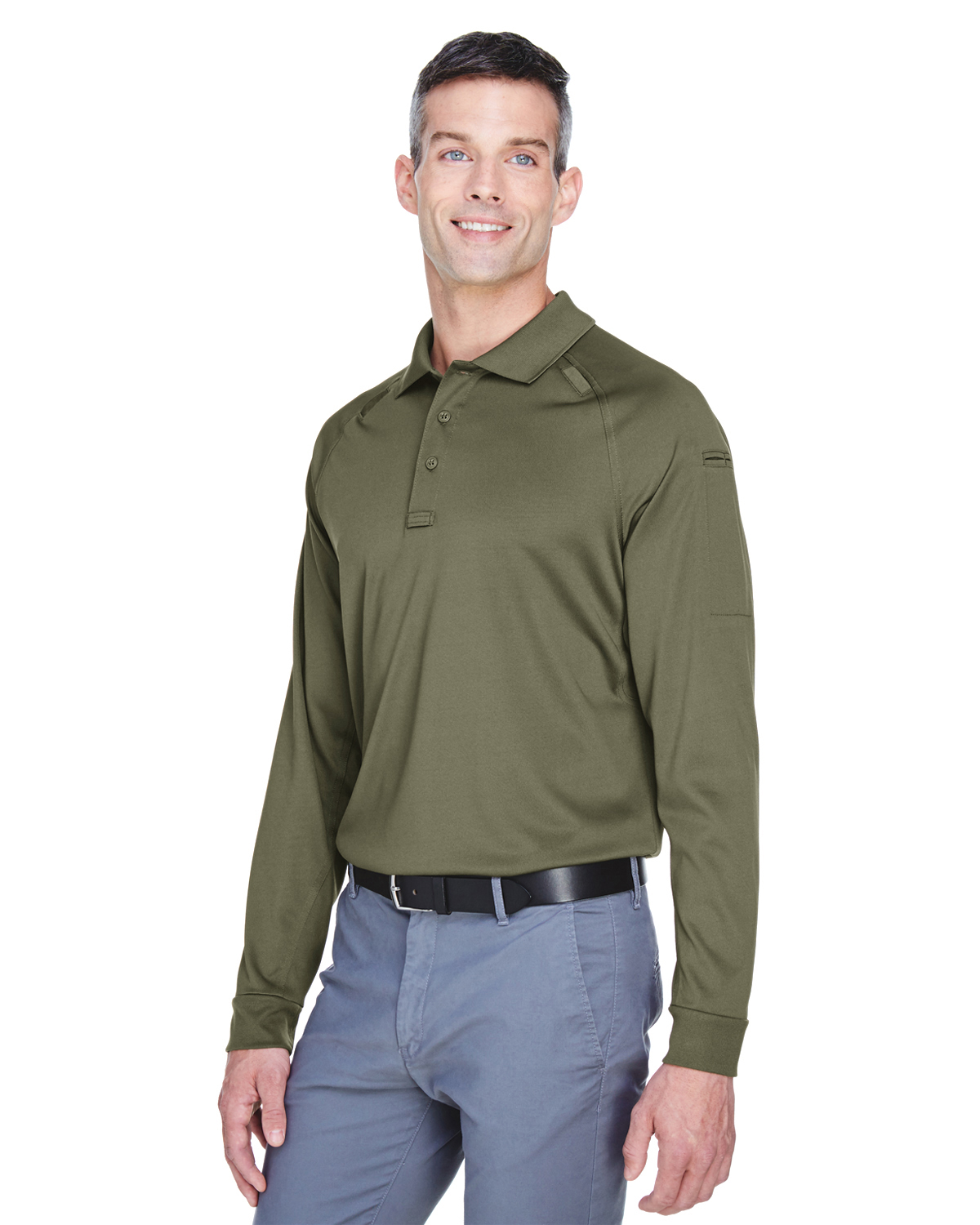 PSO - Mens Tactical Long-Sleeve Performance Polo -