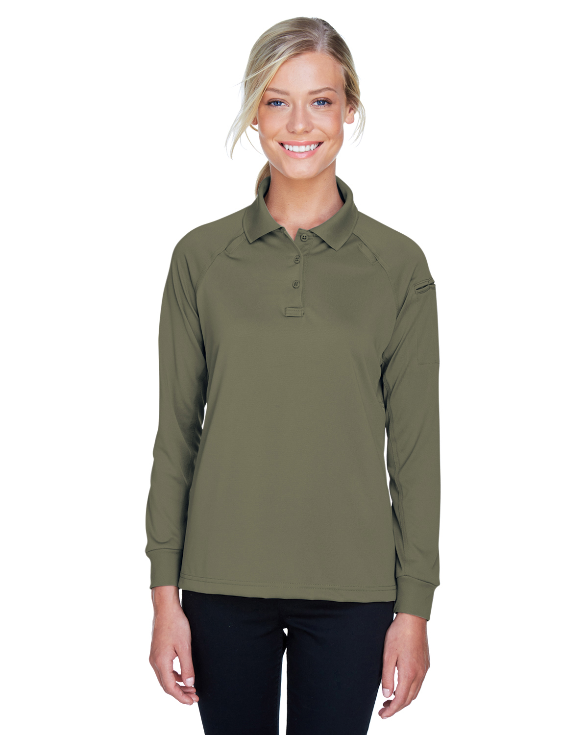 Ladies Tactical Long-Sleeve Performance Polo PCSO-Harriton