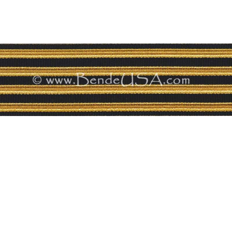 Jacquard Braid 18 Ligne Black/Regular Gold