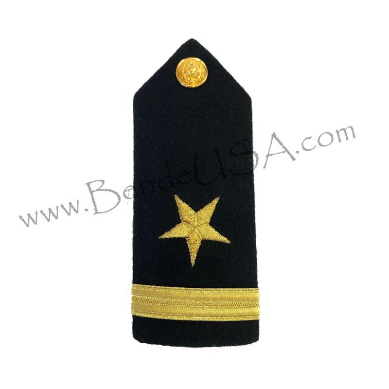 Formal Dress Hard Shoulder Boards - 1 Stripe-Hessberg USA