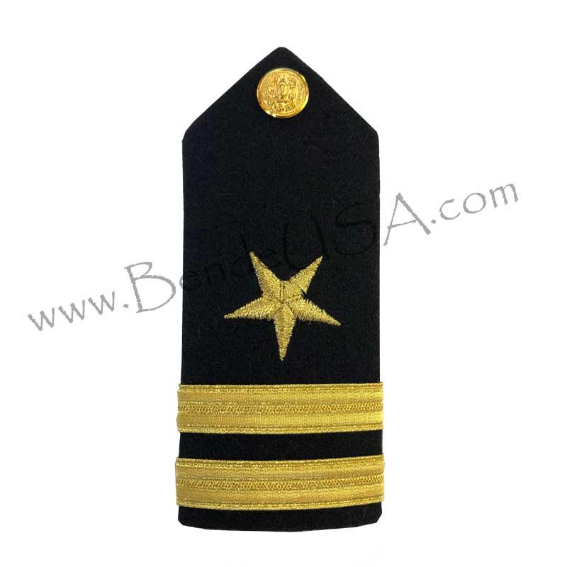 Formal Dress Hard Shoulder Boards - 2 Stripes-Hessberg USA