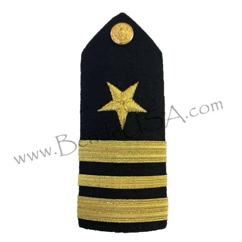 Formal Dress Hard Shoulder Boards - 3 Stripes-Hessberg USA