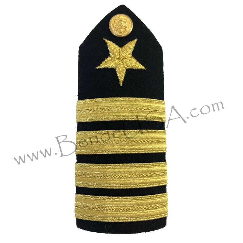 Formal Dress Hard Shoulder Boards - 4 Stripes-Hessberg USA