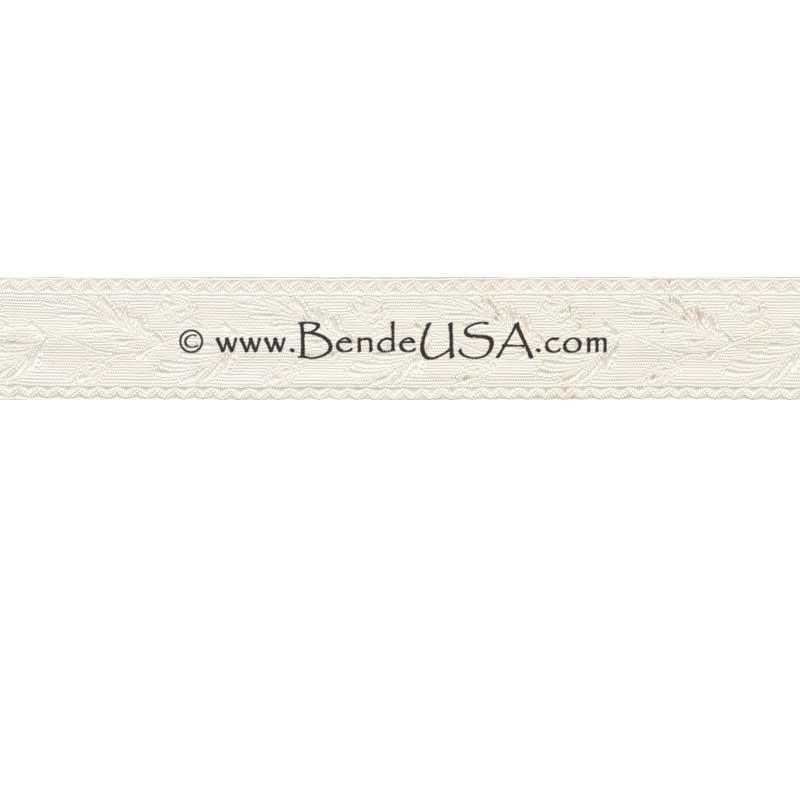 """Closeout 7/8"""" Non-Metallic Oak Leaf Braid (White)-Hessberg USA"""
