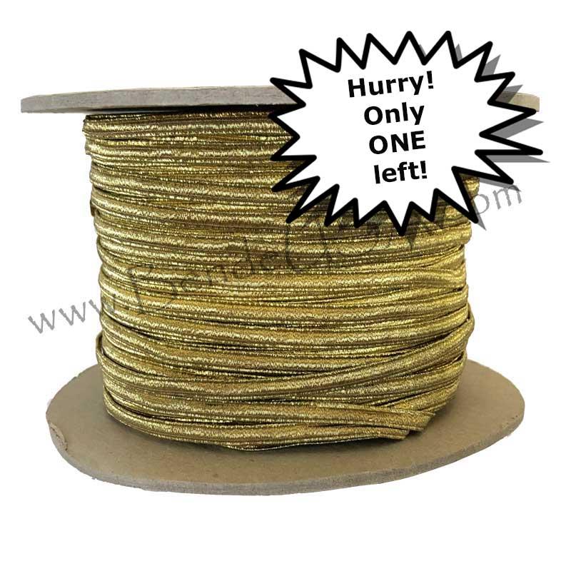 "Closeout 1/8"" Vintage Gold Braid -Hessberg USA"