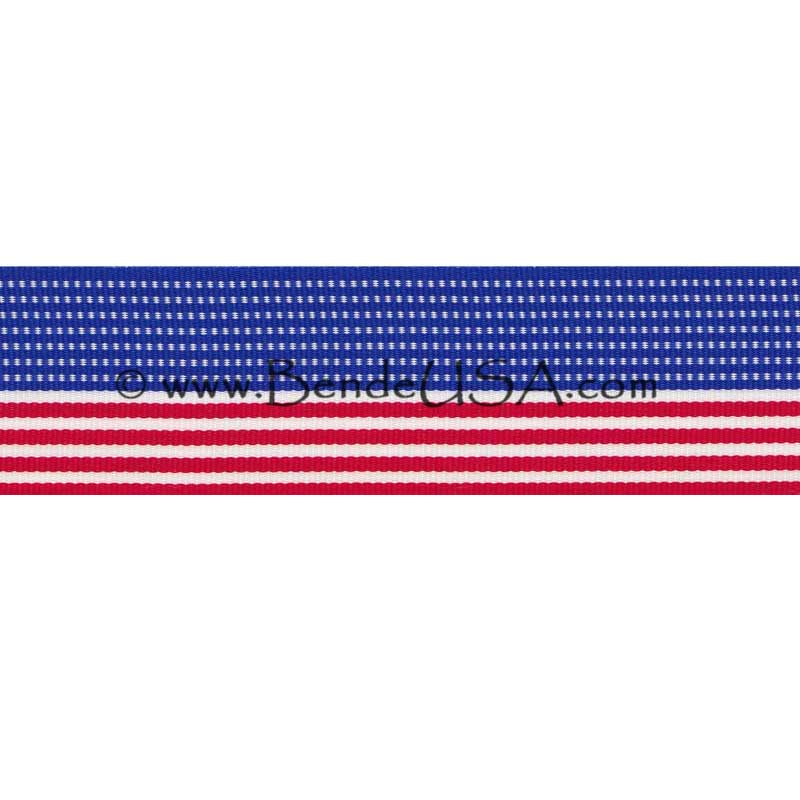 "American Flag Ribbon 1 3/8""-Hessberg USA"