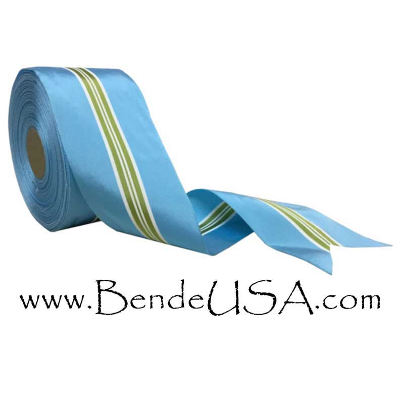 "Striped Grosgrain Ribbon 3 7/8""-Hessberg USA"