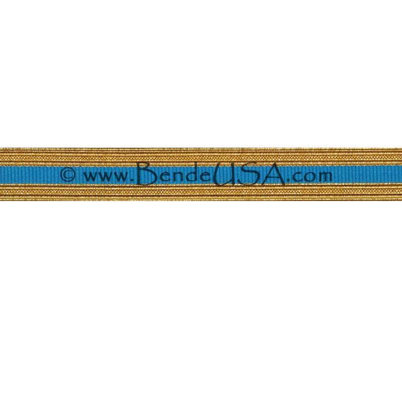 Metallic Sleeve Braid Regular Gold/AIS Blue-Hessberg USA