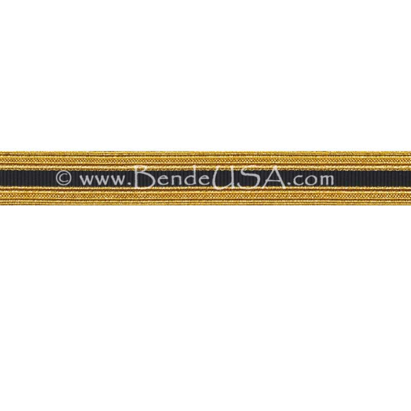 Metallic Sleeve Braid Regular Gold/Black-Hessberg USA