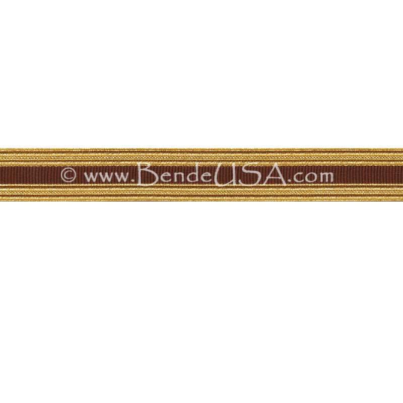 Metallic Sleeve Braid Regular Gold/Brown-Hessberg USA