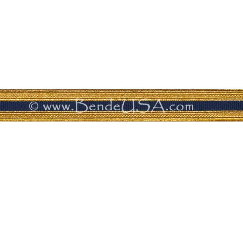 Metallic Sleeve Braid Regular Gold/Cobalt-Hessberg USA