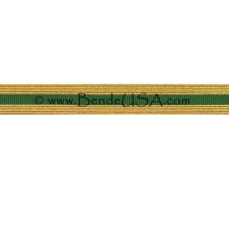 Metallic Sleeve Braid Regular Gold/Green-Hessberg USA