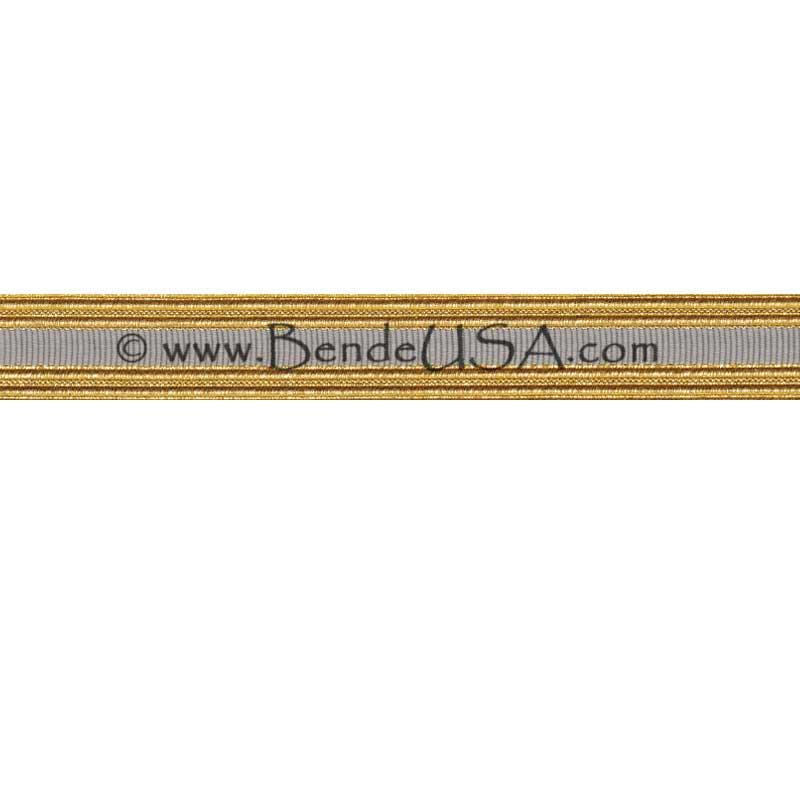 Metallic Sleeve Braid Regular Gold/Grey-Hessberg USA