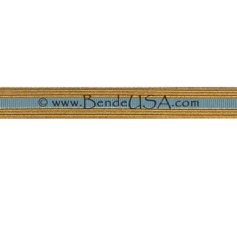 Metallic Sleeve Braid Regular Gold/Light Blue-Hessberg USA