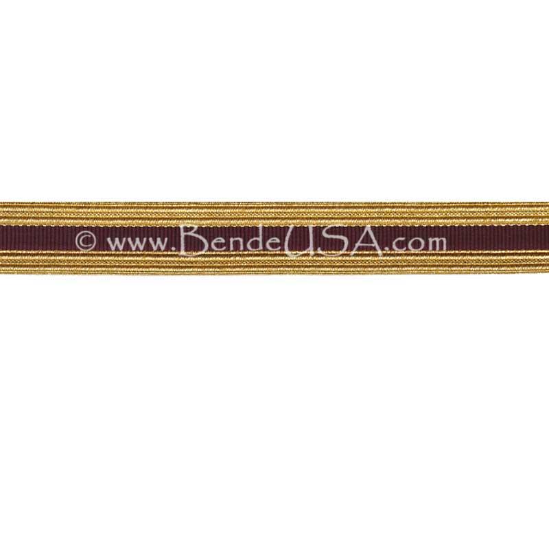 Metallic Sleeve Braid Regular Gold/Maroon-Hessberg USA