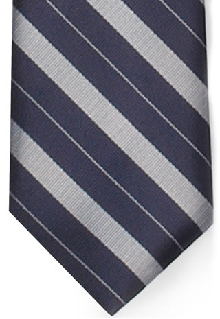 Bar Stripe Necktie w/Buttonholes-