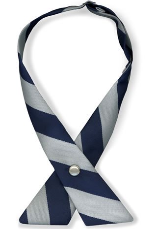 Bar Stripe Crossover Tie w/Pearl Snap-