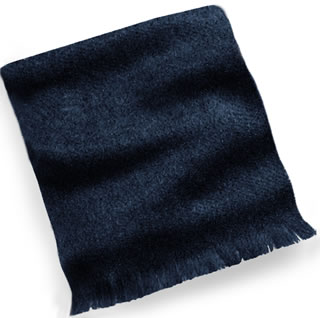 Wool Muffler with Self Fringe-
