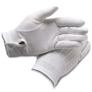 Cotton Dress Gloves w/ Wrist Snap