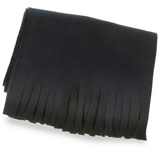 Fleece Scarf with Cut Fringe-Samuel Broome