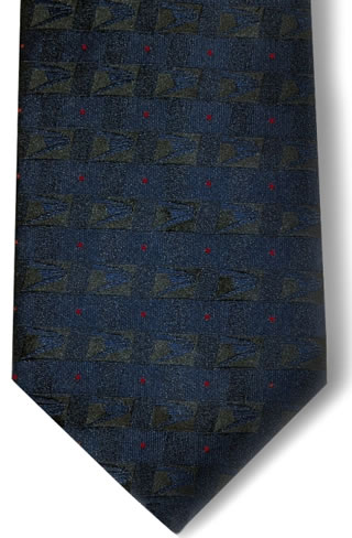 USPS Eagle Logo Necktie with Buttonholes