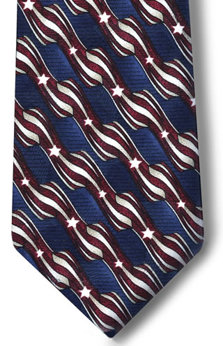 USPS Stars & Stripes Necktie with Buttonholes-