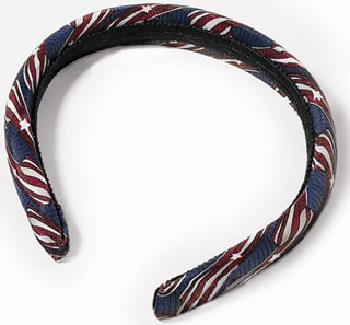 "USPS Stars & Stripes 1"" Padded Headband-"