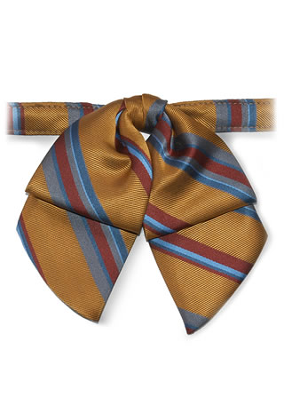 Eton Stripe Banded Mini Showbow-Samuel Broome