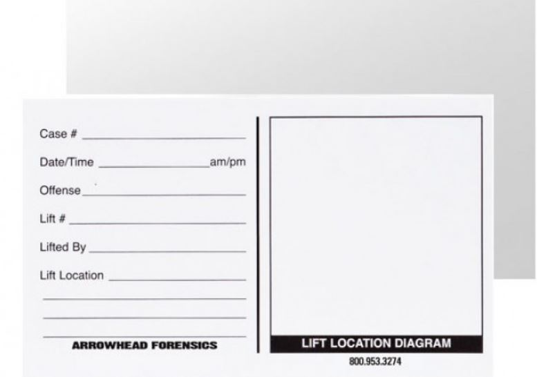 "Backing Cards - White - 3"" x 5"" - 100/pk-Arrowhead Forensics"