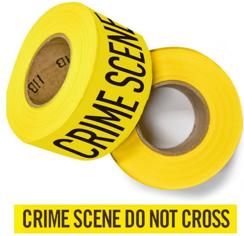 "Barrier Tape - ""Crime Scene Do Not Cross"" - Yellow-Arrowhead Forensics"