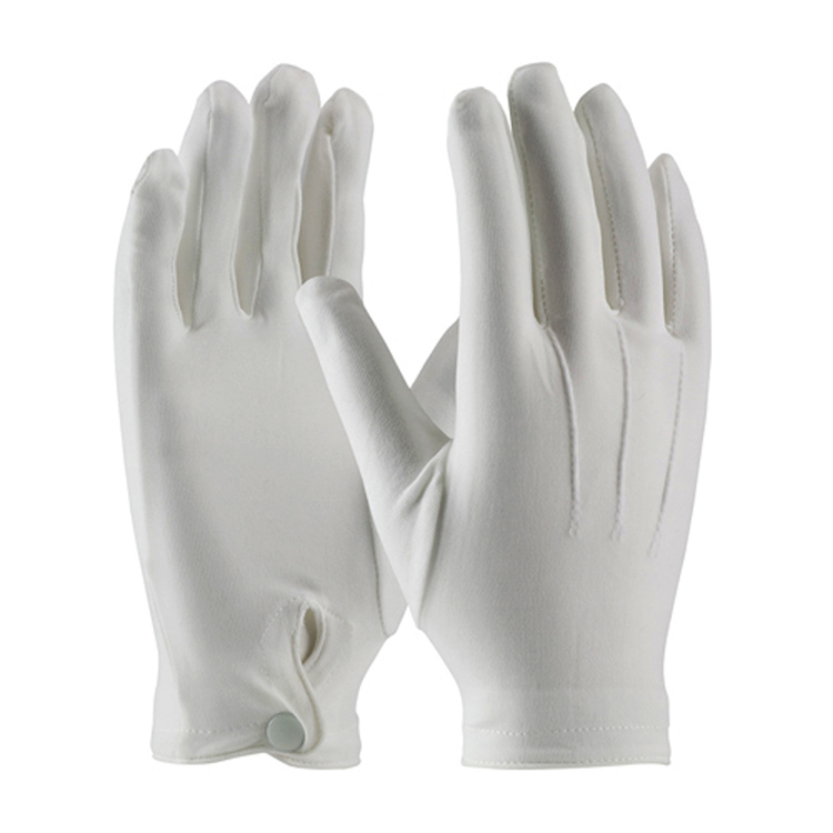 Cotton Dress Gloves<br>with Wrist Snap-SB