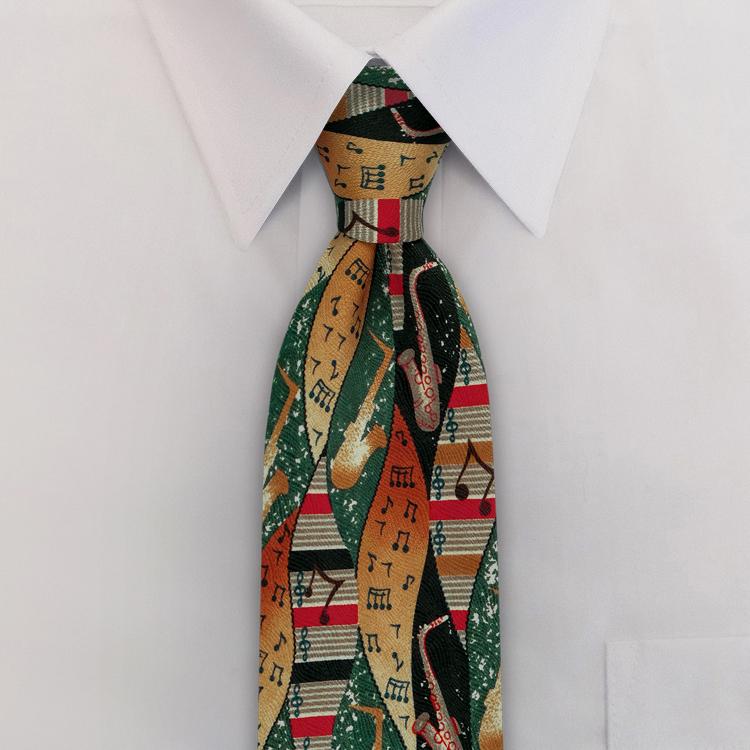 Jazz KK1 Teal/Navy/Red<br>Four-In-Hand Necktie-SB