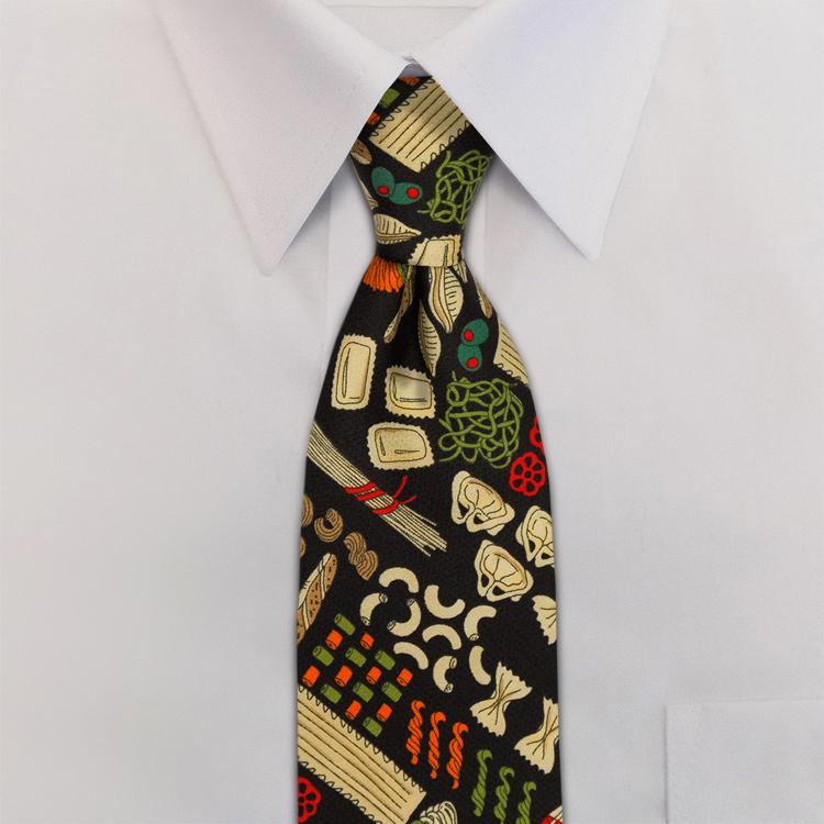 Pasta DA1 Black/Red/Green<br>Four-In-Hand Necktie-SB