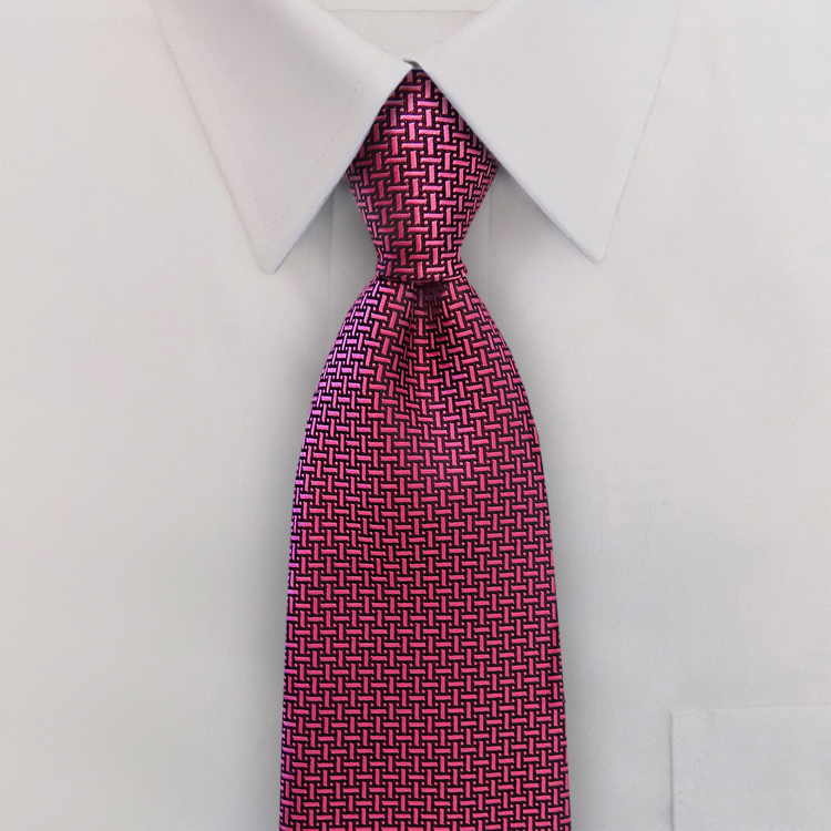 Gem Tones<br>HA10 Tourmaline Pink<br>Four-In-Hand Necktie-Samuel Broome Uniform Accessories