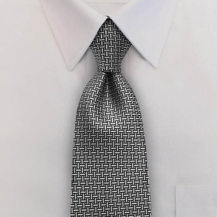 Gem Tones HA2 Silver<br>Pre-Tied Clip-On Necktie-SB