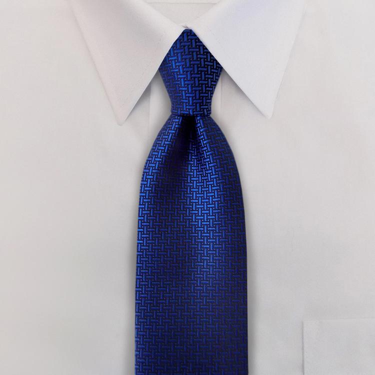 Gem Tones HA4 Blue Sapphire <br>Four-In-Hand Necktie-SB