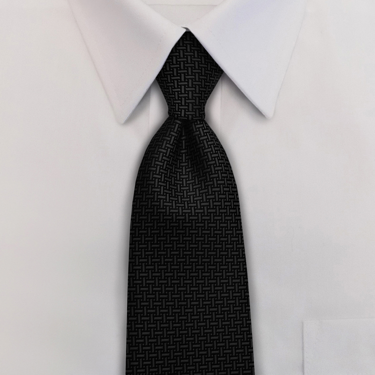 Gem Tones HA6 Black Onyx <br>Four-In-Hand Necktie-SB
